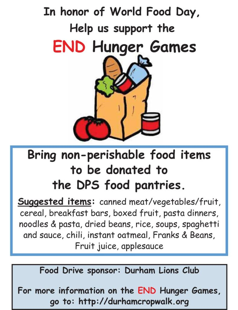 End Hunger Games Food Drive